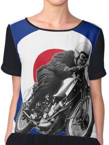 Classic UK Motorcycle Racing Women's Chiffon Top