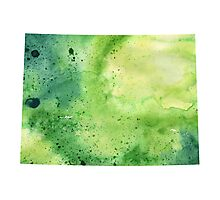 Watercolor Map of Colorado, USA in Green - Giclee Print My Own Watercolor Painting Photographic Print