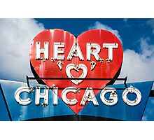 Chicago's Heart Motel Photographic Print