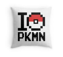 I Love PKMN Throw Pillow