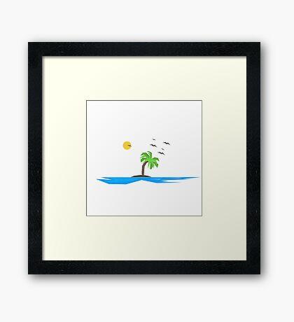 Simple Island Framed Print