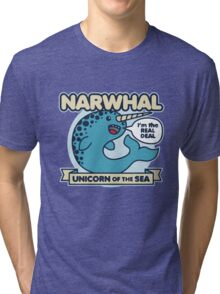 Narwhal Unicorn Of The Sea Tri-blend T-Shirt