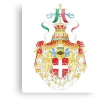 Italian Coat of Arms Italy Symbol Canvas Print