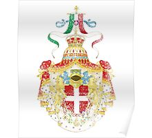 Italian Coat of Arms Italy Symbol Poster