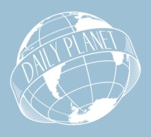 Daily Planet - white Kids Tee