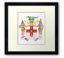 Jamaican Coat of Arms Jamaica Symbol Framed Print