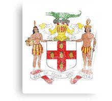 Jamaican Coat of Arms Jamaica Symbol Canvas Print
