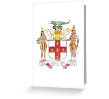 Jamaican Coat of Arms Jamaica Symbol Greeting Card