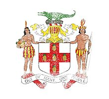 Jamaican Coat of Arms Jamaica Symbol Photographic Print