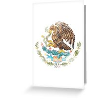 Mexican Coat of Arms Mexico Symbol Greeting Card