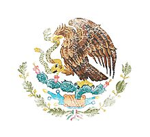 Mexican Coat of Arms Mexico Symbol Photographic Print
