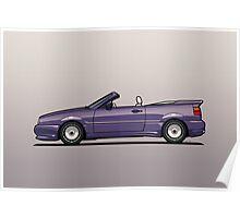 VW Corrado G60 Zender Cabrio Convertible Poster
