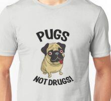 Pugs Not Drugs Funny Shirt Unisex T-Shirt