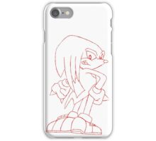 Knuckles Pose Draft Drawing iPhone Case/Skin