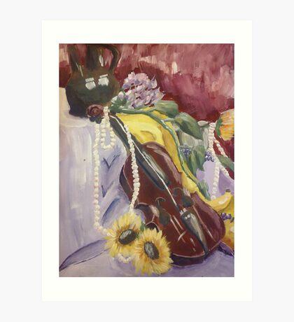 Violin Still Life Art Print