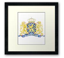 Dutch Coat of Arms Netherlands Symbol Framed Print