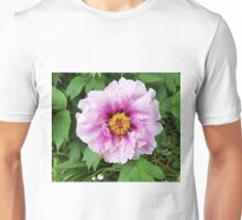 Rose and mauve peony with a heart of gold Unisex T-Shirt