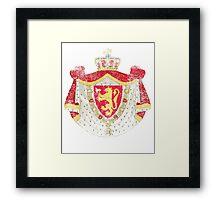 Norwegian Coat of Arms Norway Symbol Framed Print