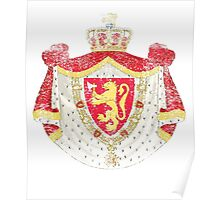 Norwegian Coat of Arms Norway Symbol Poster