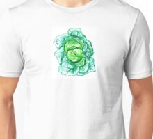 Green Cabbage Watercolor Unisex T-Shirt
