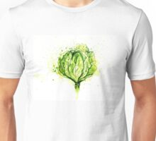 Green Cabbage Watercolor 2 Unisex T-Shirt
