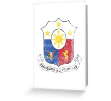 Filipino Coat of Arms Philippines Symbol Greeting Card