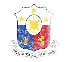 Filipino Coat of Arms Philippines Symbol Photographic Print