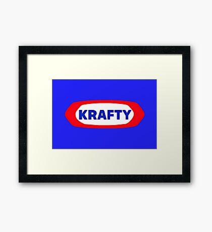 KRAFTY Framed Print