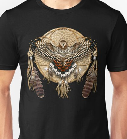 Red-Tail Hawk Dreamcatcher Mandala Unisex T-Shirt
