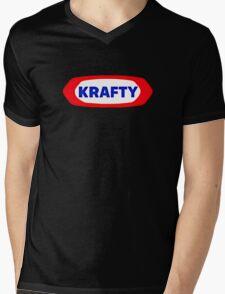 KRAFTY Mens V-Neck T-Shirt