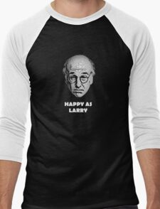 Happy as Larry  Men's Baseball ¾ T-Shirt