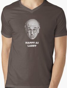 Happy as Larry  Mens V-Neck T-Shirt