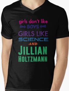 Girls Like Jillian Holtzmann - Multicolor Mens V-Neck T-Shirt