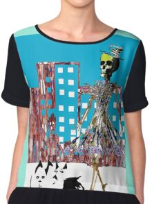 City Chic Skeleton  Chiffon Top