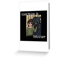 Hiccup and Toothless Black Greeting Card