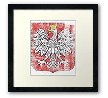 Polish Coat of Arms Poland Symbol Framed Print