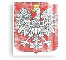 Polish Coat of Arms Poland Symbol Canvas Print