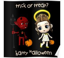 Devil or Angel Trick or Treat Poster