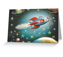 Zelda in Space  greeting cards Greeting Card