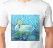 Preening Swan by the Lake  Unisex T-Shirt