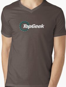 Top Geek  Mens V-Neck T-Shirt