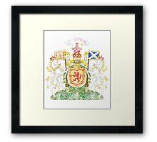 Scottish Coat of Arms Scotland Symbol Framed Print