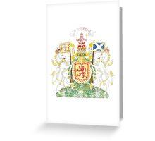 Scottish Coat of Arms Scotland Symbol Greeting Card