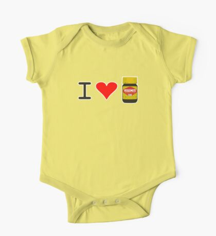 I Love Vegemite One Piece - Short Sleeve