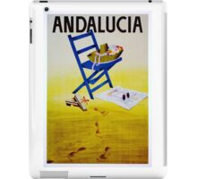 Vintage Andalucia Spain Travel Poster iPad Case/Skin