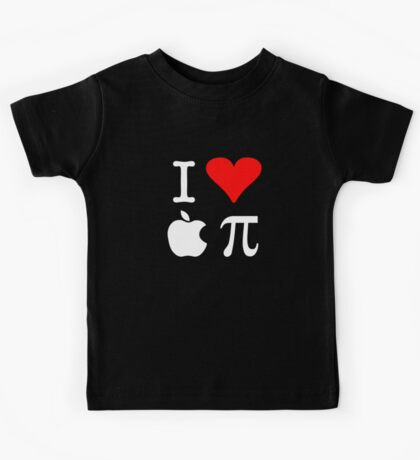 I Love Apple Pi Kids Tee