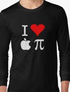 I Love Apple Pi Long Sleeve T-Shirt