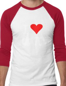 I Love Apple Pi Men's Baseball ¾ T-Shirt