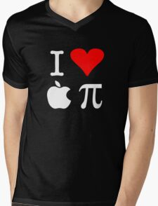 I Love Apple Pi Mens V-Neck T-Shirt