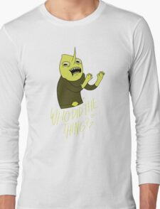 "Lemongrab ""WHO DID THE THING"" || ScarlettDesigns Long Sleeve T-Shirt"